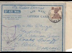 1944: RAF India, Radar school to Cardif/Wales England