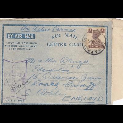 1944: RAF India, Radar school to Cardif/Wales England