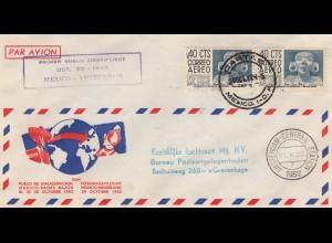 1922: Cartas: air mail first flight K.L.M. Mexico Amsterdam