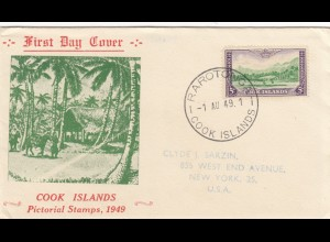 1949: Rarotong FDC to New York
