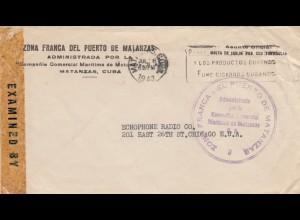 1943: Matanzas to Chicago, censor