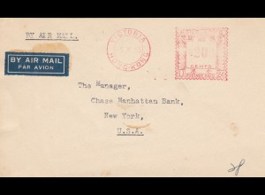 1955: air mail Victoria, Hong Kong to New York