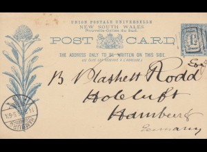 1895: post card NSW to Hamburg