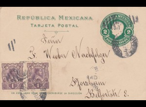 1912: post card Puebla to Pforzheim