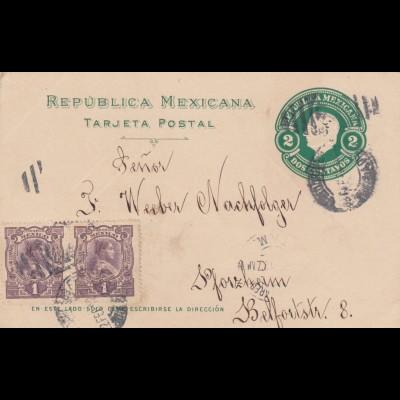 1912: post card Puebla to Pforzheim