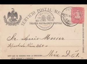 post card 1900 Sacramento to Mexico