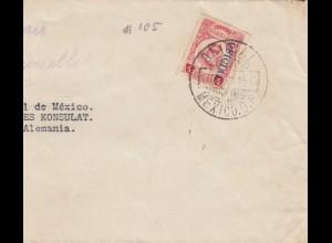 1928: Mexico to Deutsches Konsulat, Berlin, half letter