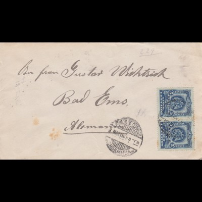 1901: letter to Bad Ems