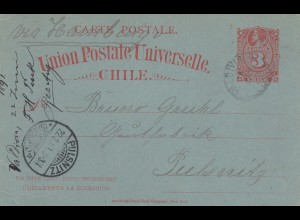 1891: post card to Pulsnitz