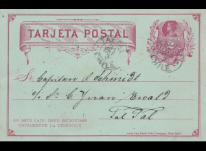 1893: 2x post cards Tal Tal