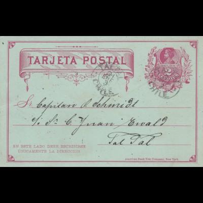 1893: 2x post cards Tal Tal