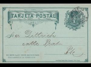 1897: post card Valparaiso, Deutscher Musikverein