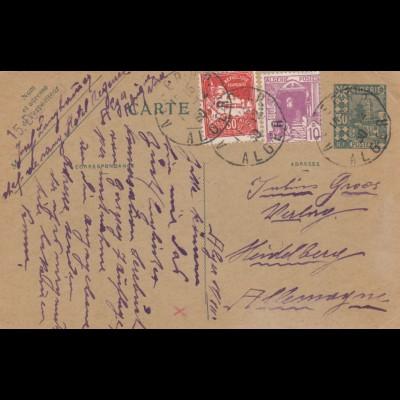 1930: post card Algier to Heidelberg