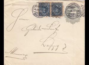 1912: letter Valparaiso/Maritima to Leipzig