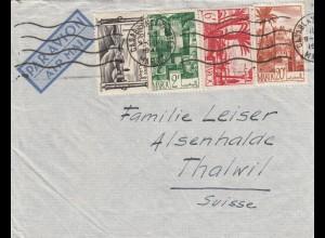 1948: air mail Casablanca to Thalwil/Switzerland