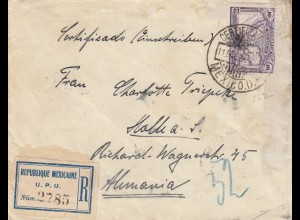 3x letters, Registered 1919/1923 to Hamburg, Halle, Dortmund