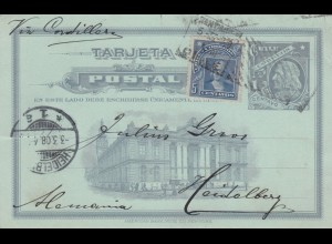 1908: post card Santiago to Heidelberg