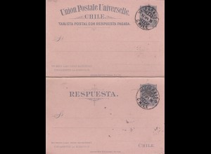 1895: post card with response card Valparaiso