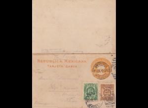 1910: post card Mexico to Kronach/Germany