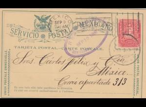 1900: post card Contestada to Mexico