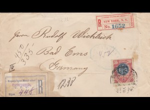 1903: registered Chihuahua/El Paso to Bad Ems, New York Exchange
