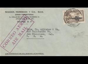 1934: air mail Gran Ferreteria to San Francisco