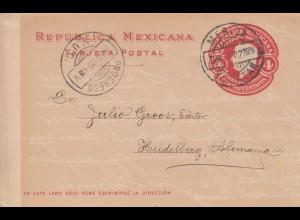 1910: post card Yucatan to Heidelberg