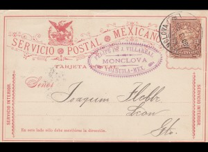 1895: post card Monclova/Coahuila