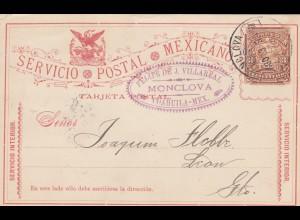 1895: post card Monclova/Coahuila