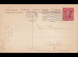 1906: St. Louis, post card Broadway to Tahiti