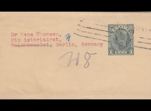 1931: Wrapper to Berlin, Reichskanzlei