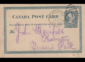 1882: post card Toronto, Court Robin Hood