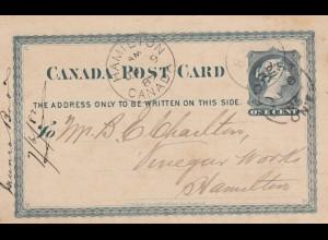 1882: post card Hamilton