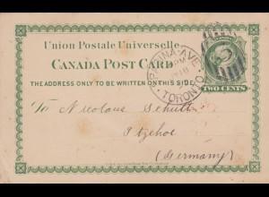 1892: post card Toronto to Itzehoe
