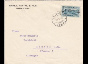1927: Letter from Damas to Kamenz