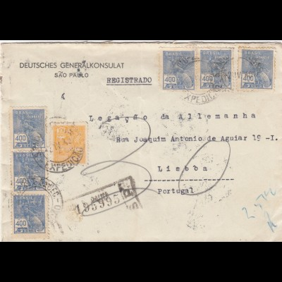 1940: Deutsches Generalkonsulat Sao Paolo, registered to Lisboa