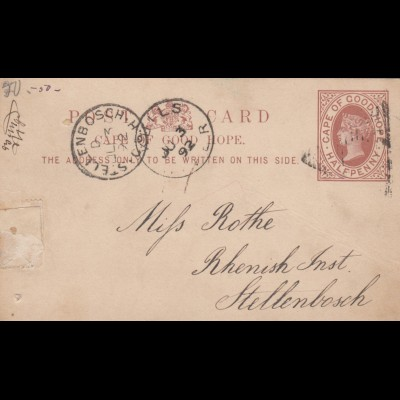 1892: Stellenbosch post card