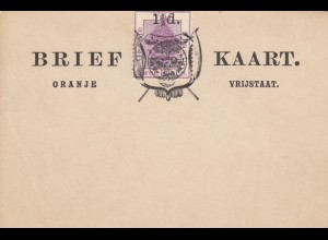 2x Brief Kaart (post card) Oranje, Vrijstaat