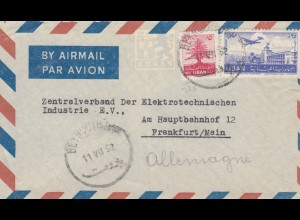 1952: air mail Beyrouth to Frankfurt