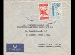 1955: air mail Beyrouth to Stockholm