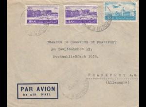 1952: air mail Beyrouth to Frankfurt, IHK