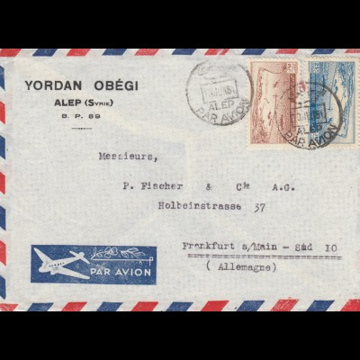 1951: air mail Alep to Frankfurt
