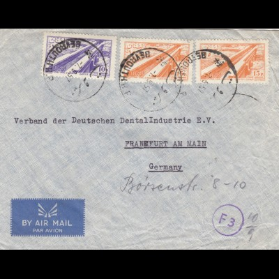 letter air mail Beyrouth to Frankfurt 1957