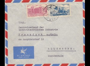 letter air mail Damas to frankfurt 1972