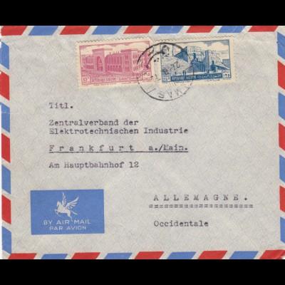 letter air mail Damas to frankfurt 1972