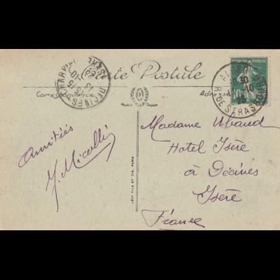 Post card 1923 Alger to France