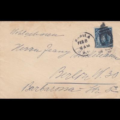 Manila letter to Berlin