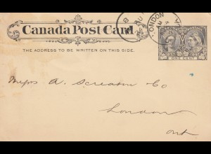 Canada post card to London