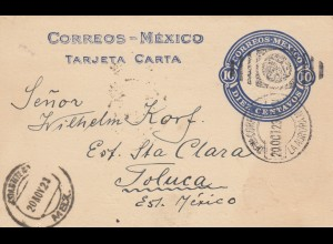 post card 1923 to Toluca