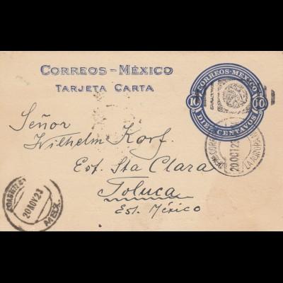 post card 1923 to Toluca